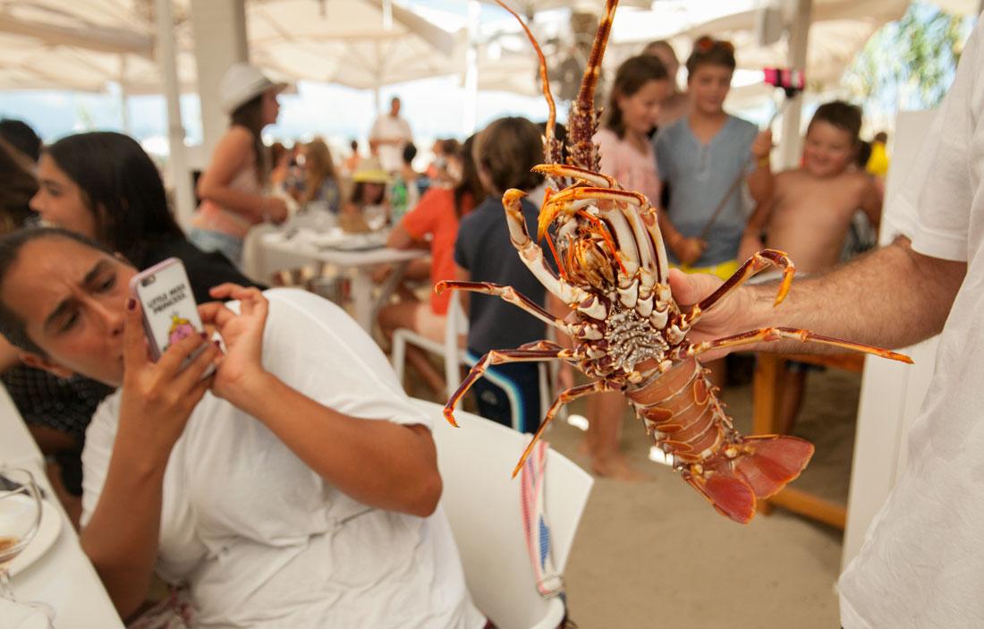 Restaurante Juan y Andrea en Formentera. Especialidad en bogavante