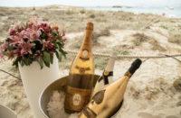 Restaurante Juan y Andrea en Formentera. Champagne