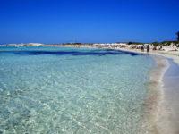 Playa de Illetes en Formentera. Chiringuito Juan y Andrea en Formentera