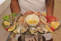 Restaurante Juan y Andrea en Formentera. Ostras y mariscos