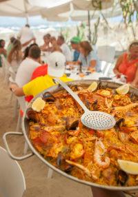 Restaurante Juan y Andrea en Formentera. Paella de marisco