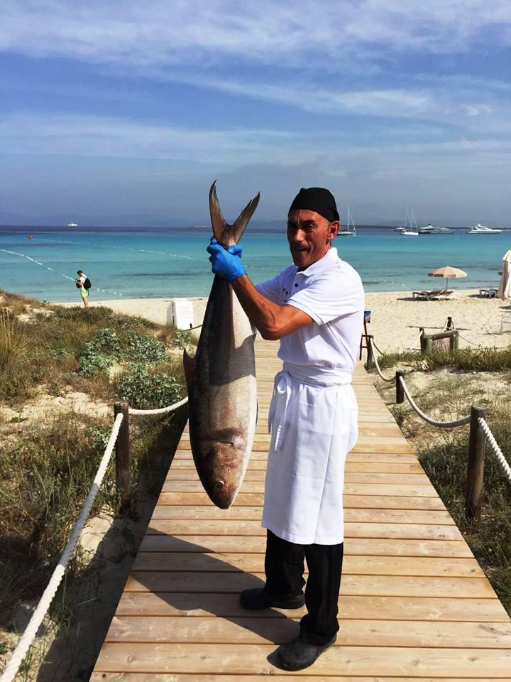 Restaurante Juan y Andrea en Formentera. Pescados frescos