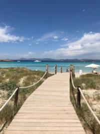 Restaurante Juan y Andrea en la playa de Illetes de Formentera.